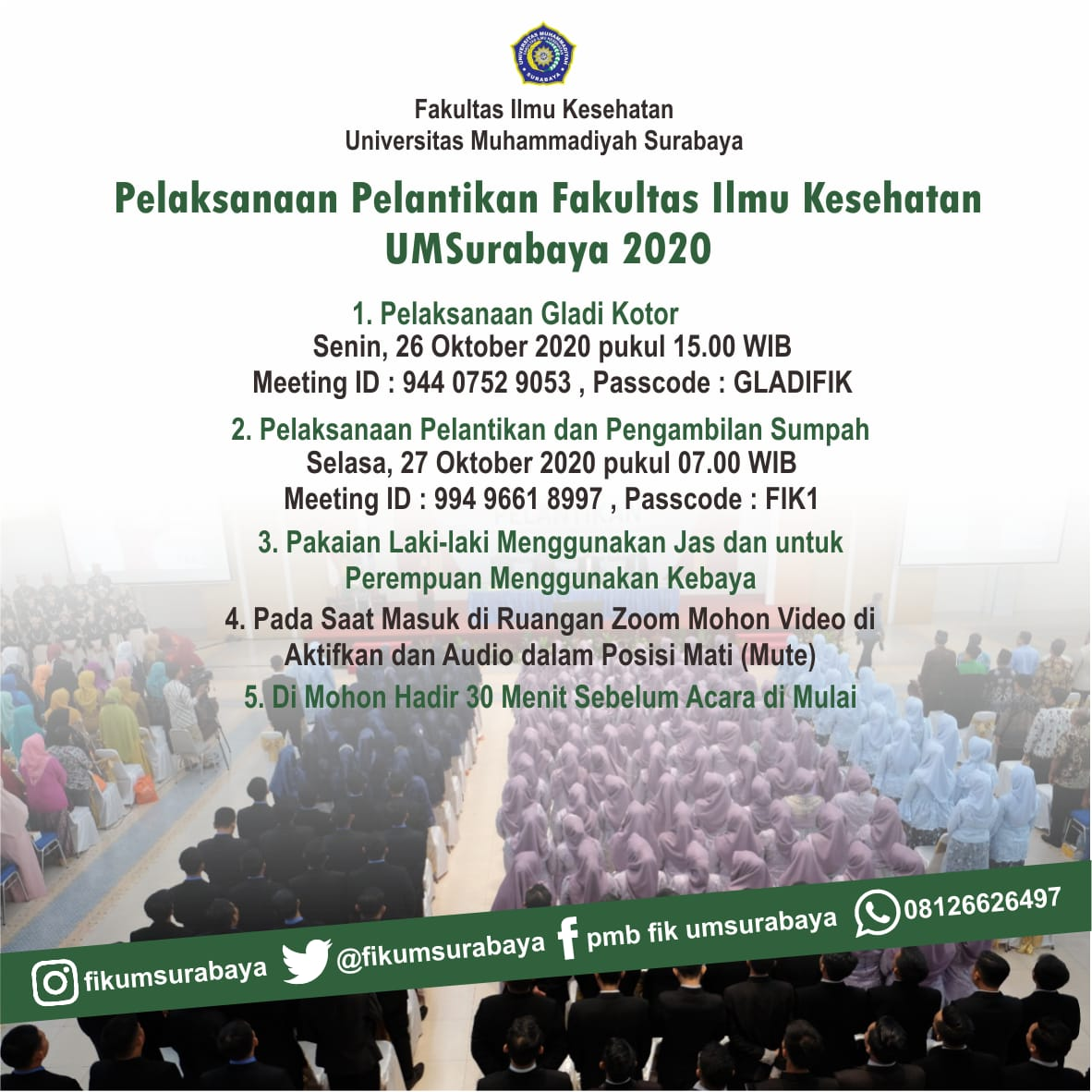 Pelantikan Fakultas Ilmu Kesehatan UM Surabaya