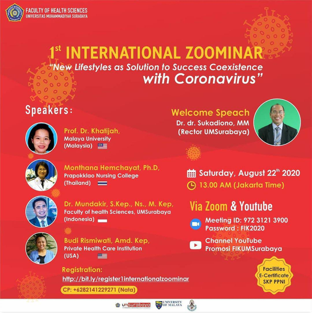 """INTERNATIONAL ZOOMINAR  """"New Lifestyles as Solution to Success Coexistence with Coronavirus"""""""